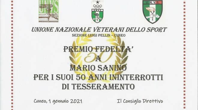 Veterani Sportivi Cuneo Premio Fedeltà