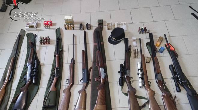 fucili sequestrati peveragno