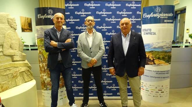 Silvio Turco Davide Sciandra Roberto Ganzinelli Confartigianato Mondovì