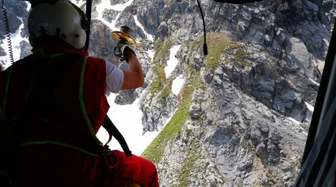 soccorso alpino Monte Oraonaye valle maira