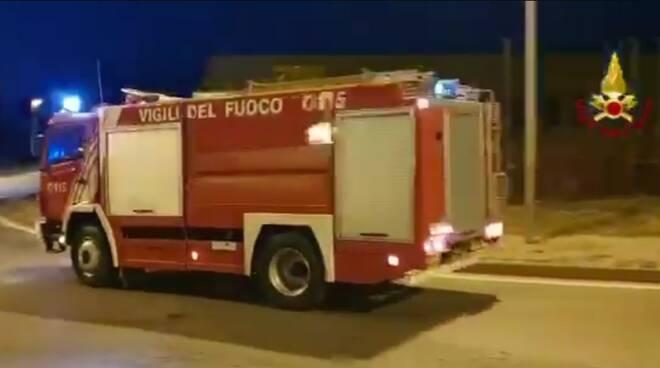 Colonna mobile vvf Cuneo diretta in Calabria