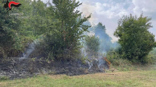 forestale incendio boschivo trinità