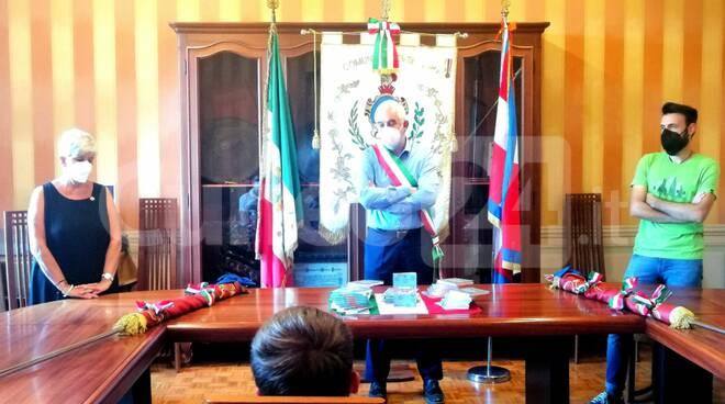 Peveragno consegna Costituzione 18enni 2021 Ghigo Renaudi Marchisio