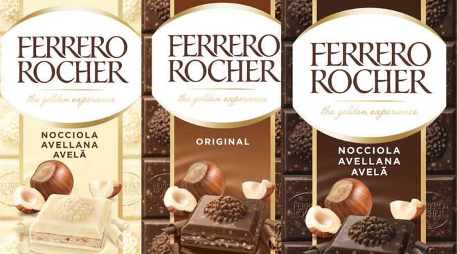 Ferrero Rocher tavolette cioccolato