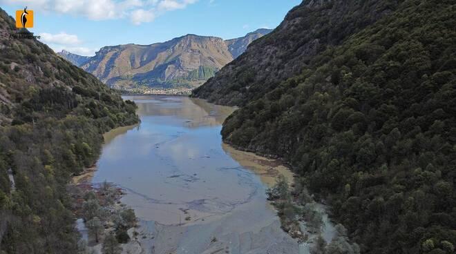 La diga della Piastra il 3 ottobre 2020  A. Rivelli