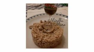 risotto al barolo con funghi in cucina con mirella