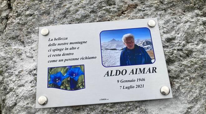 Targa ricordo Aldo Aimar