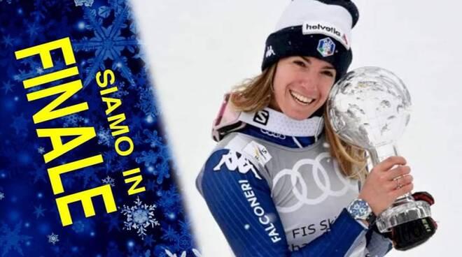 Marta Bassino in finale atleta anno FISI 2021