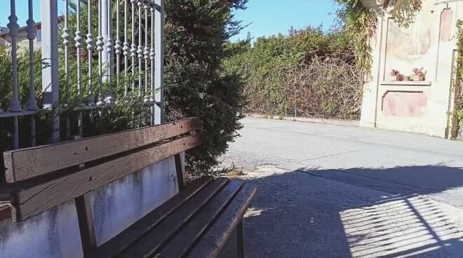 Nuova panchina Costigliole Saluzzo
